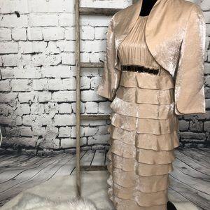 Adrianna Papell shutter dress bolera jacket 4